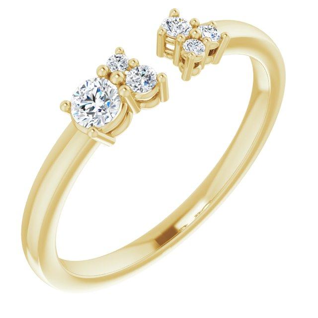 14K Yellow 1/6 CTW Diamond Negative Space Ring