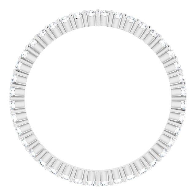 14K White 3/8 CTW Diamond Eternity Band Size 6