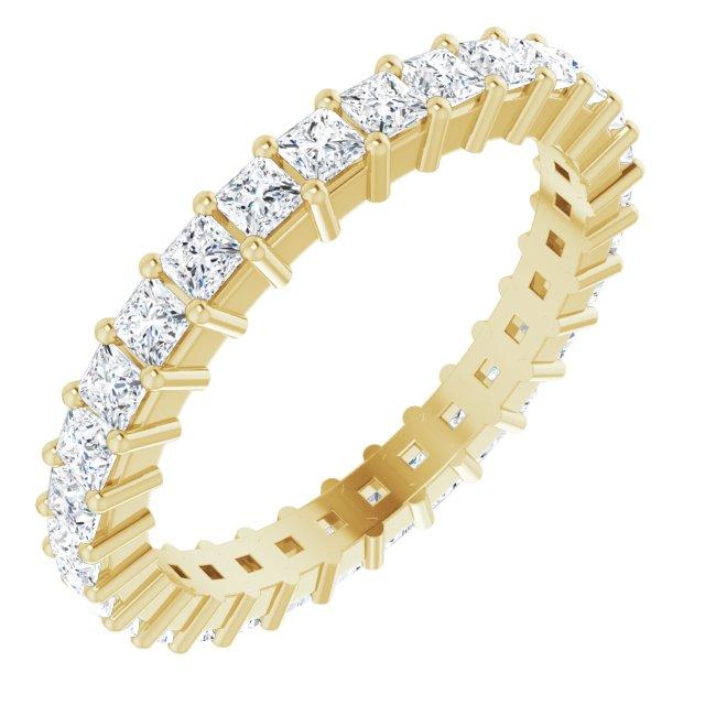 14K Yellow 1 1/2 CTW Diamond Eternity Band Size 7