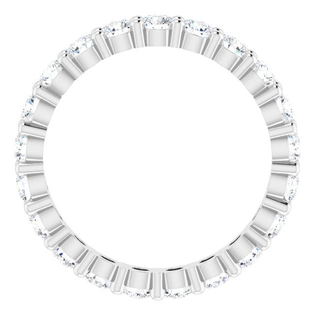 14K White 1 1/4 CTW Diamond Eternity Band Size 5
