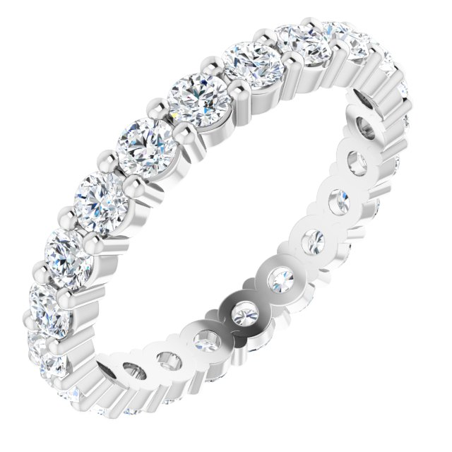 14K White 1 1/3 CTW Diamond Eternity Band Size 6