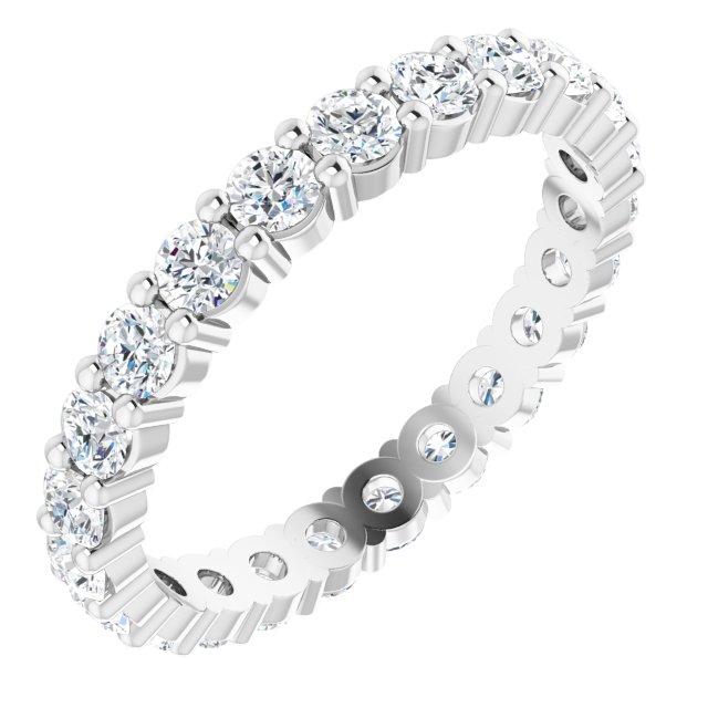 14K White 1 3/8 CTW Diamond Eternity Band Size 7