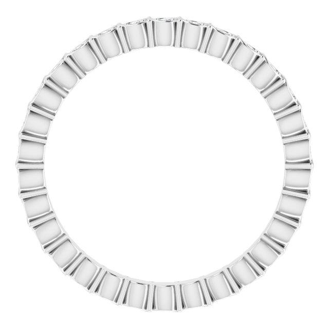 14K White 1/8 CTW Diamond Eternity Band Size 7