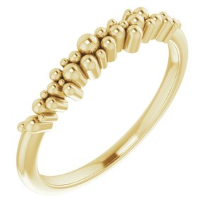 14K Yellow Stackable Scattered Bead Ring