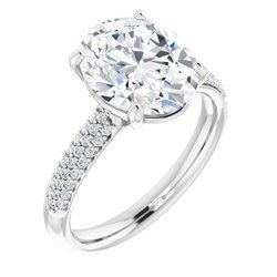 Zásnubný prsteň s postrannými kameňmi - neosadený