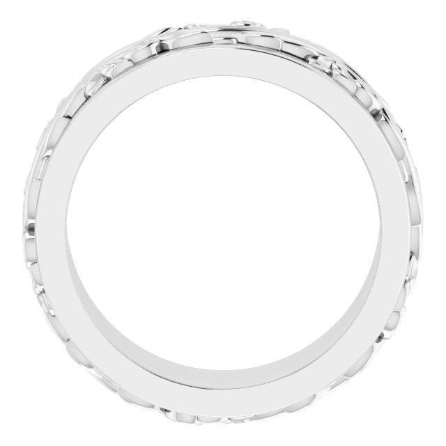 Platinum 7 mm Sculptural-Inspired Band Size 5.5