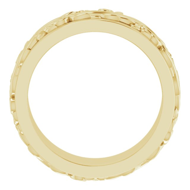 14K Yellow 7 mm Sculptural-Inspired Band Size 6