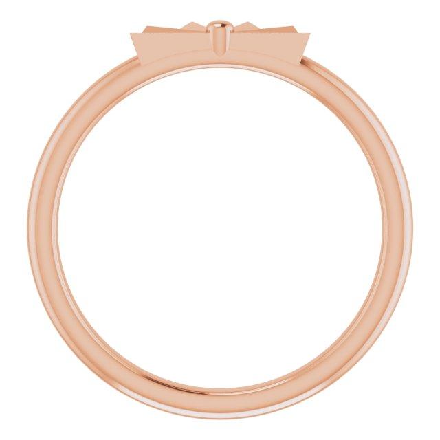 14K Rose Starburst Stackable Ring