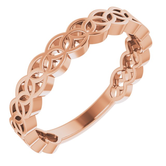 14K Rose Geometric Stackable Ring