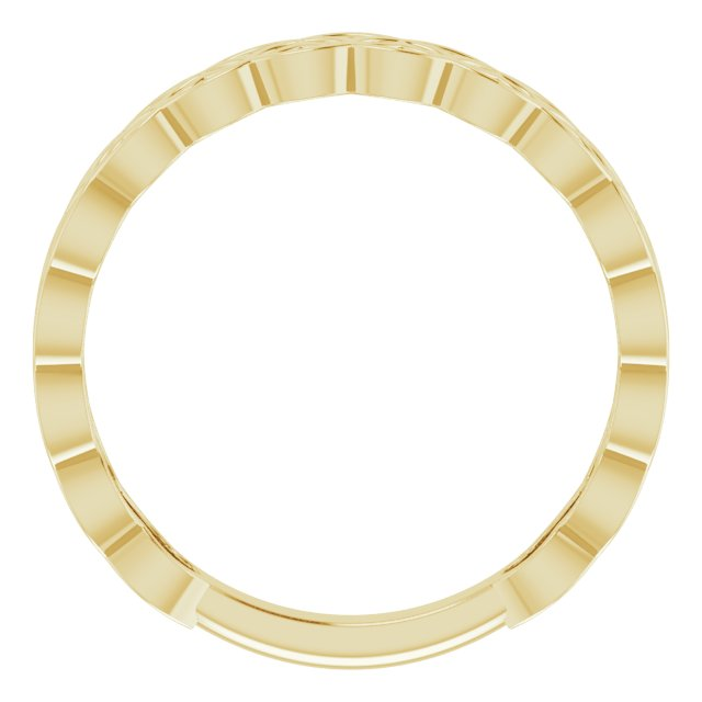 14K Yellow Geometric Stackable Ring