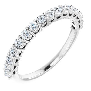 14K White 1/2CTW Diamond Anniversary Band