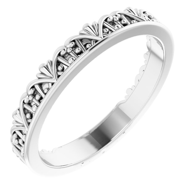 Sterling Silver Stackable Crown Ring