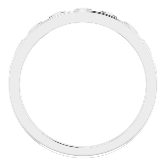 14K White Cross Crown Ring
