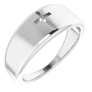 Sterling Silver Pierced Cross Ring