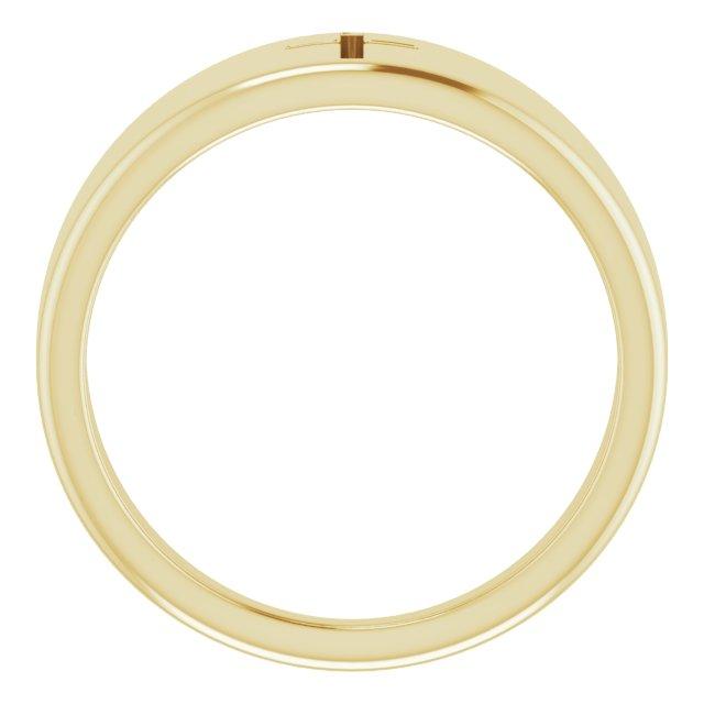 14K Yellow Pierced Cross Ring