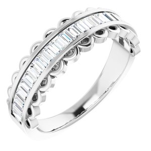 14K White 5/8 CTW Diamond Channel-Set Anniversary Band