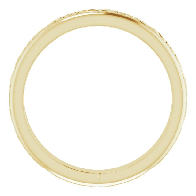 14K Yellow 3.2 mm Celtic-Inspired Band Size 7