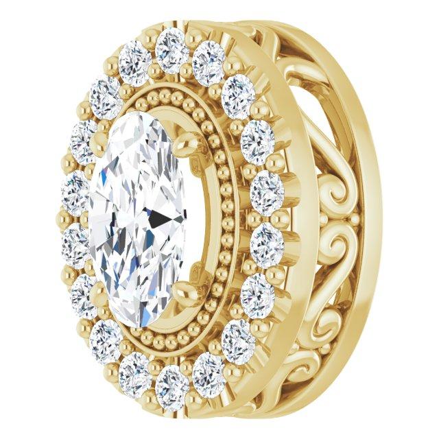 14K Yellow 5/8 CTW Diamond Pendant