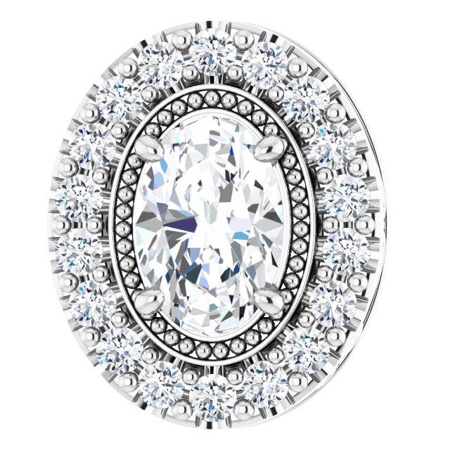 14K White 5/8 CTW Diamond Pendant