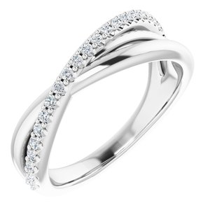 Sterling Silver 1/5 CTW Diamond Criss-Cross Ring
