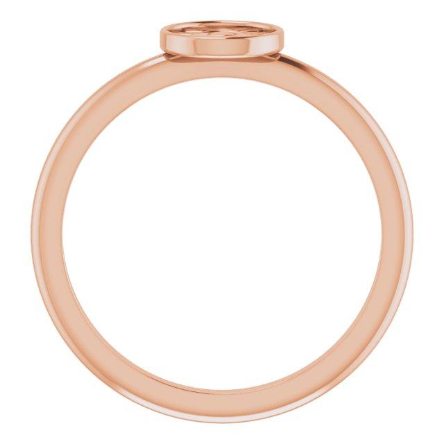 14K Rose Stackable Eye of Providence Ring