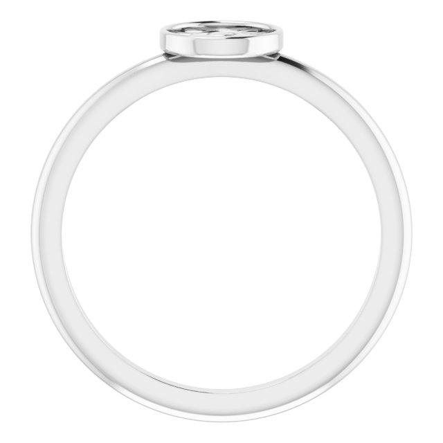 14K White Stackable Eye of Providence Ring
