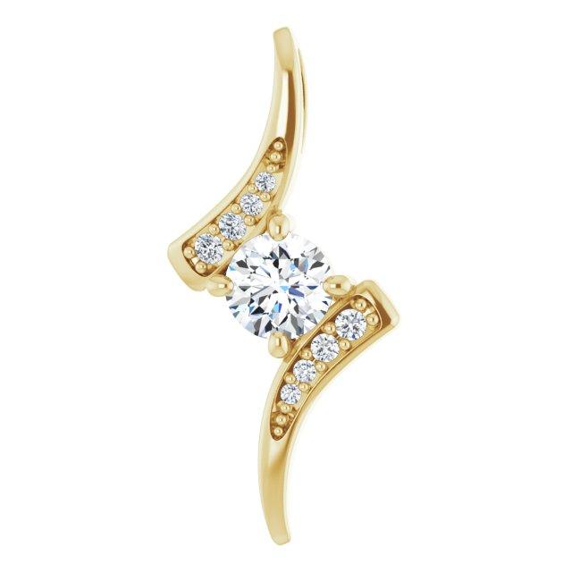 14K Yellow 1/3 CTW Diamond Pendant