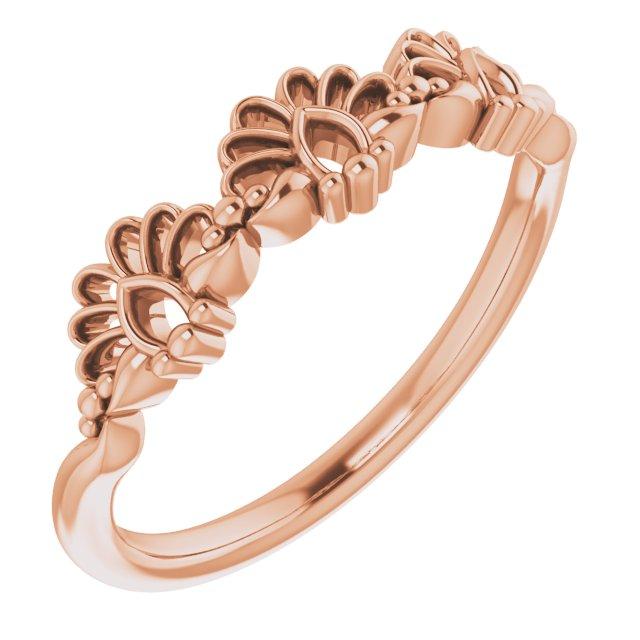 14K Rose Vintage-Inspired Stackable Ring