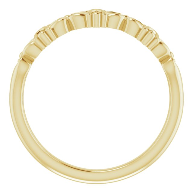 14K Yellow Vintage-Inspired Stackable Ring