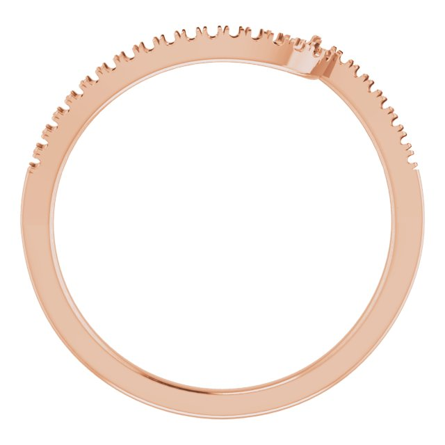14K Rose Band Mounting for 3.5 mm Round Ring