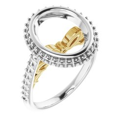 Bezel-Set Halo-Style Engagement Ring