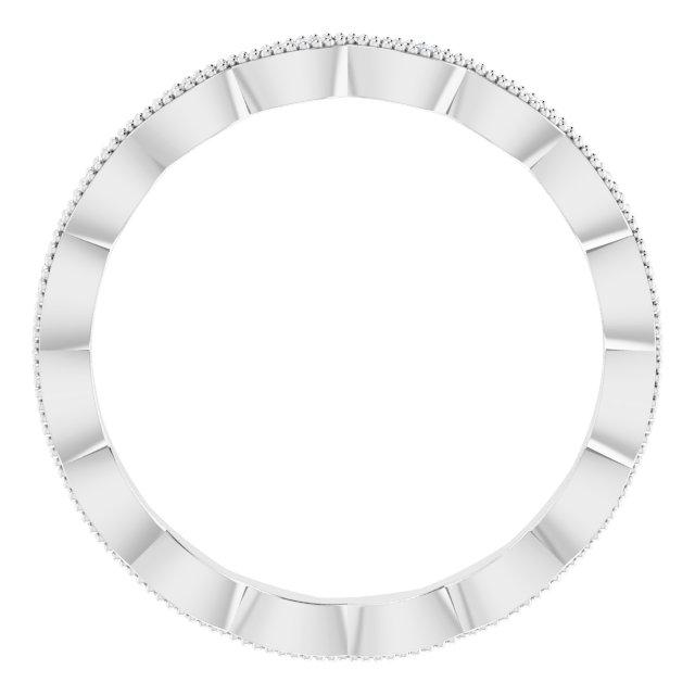 14K White .07 CTW Diamond Eternity Band Size 7
