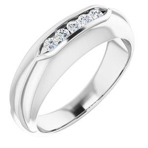 14K White 1/4 CTW Diamond Men-s Ring