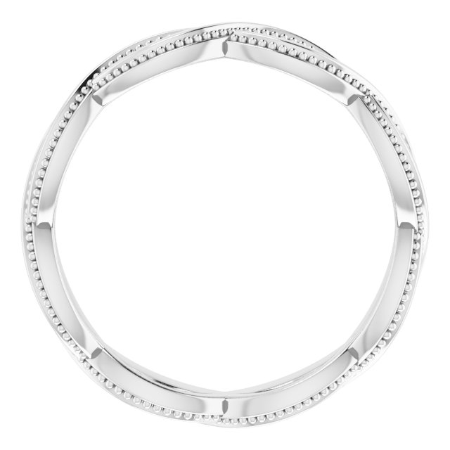 14K White 4.55 mm Infinity-Inspired Band Size 6