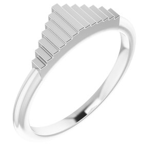 Sterling Silver Geometric Stackable Ring