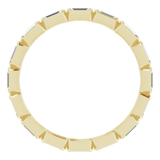14K Yellow 1/2 CTW Diamond Eternity Band Size 6