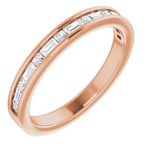 14K Rose 3/8 CTW Diamond Channel-Set Anniversary Band