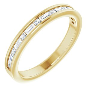 14K Yellow 3/8 CTW Diamond Channel-Set Anniversary Band