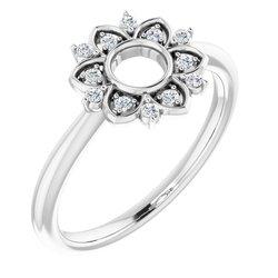 Accented Starburst Ring