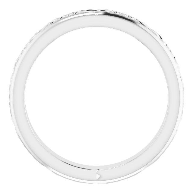 14K White 3.2 mm Celtic-Inspired Band Size 5