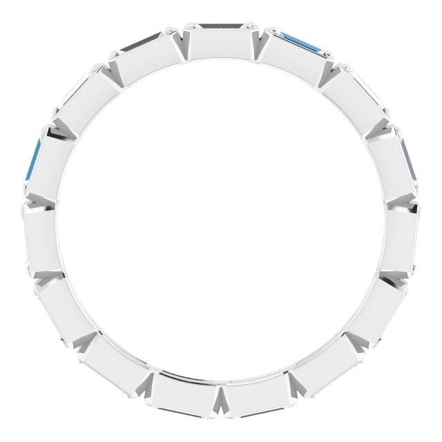 14K White 1/2 CTW Diamond Eternity Band Size 6.5