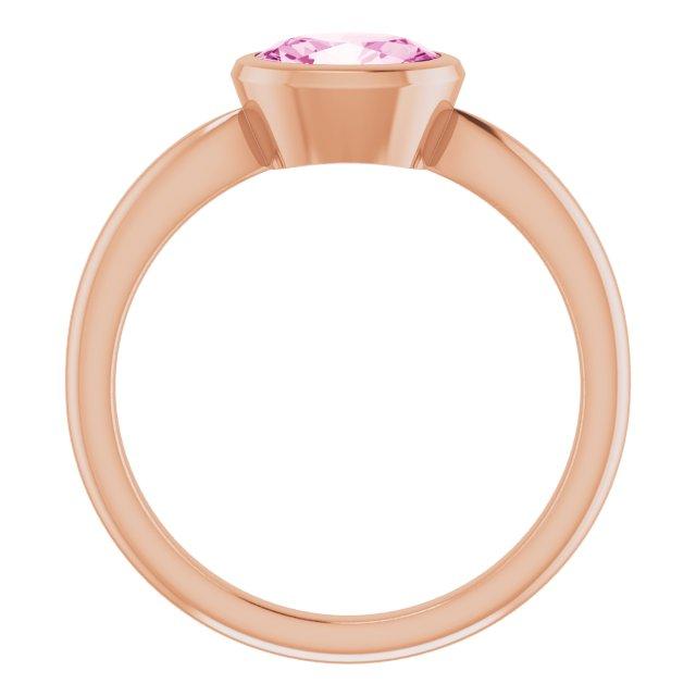 14K Rose Lab-Grown Pink Sapphire Ring