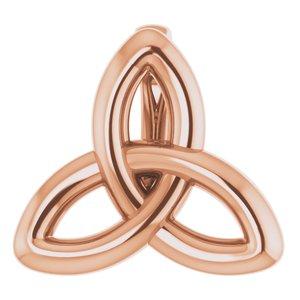 14K Rose 10x9.3 mm Celtic-Inspired Trinity Pendant