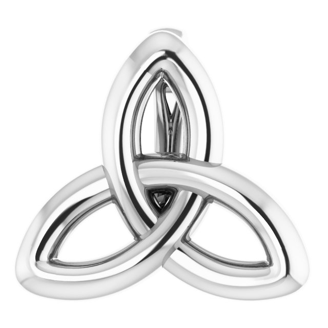 Sterling Silver 10x9.3 mm Celtic-Inspired Trinity Pendant