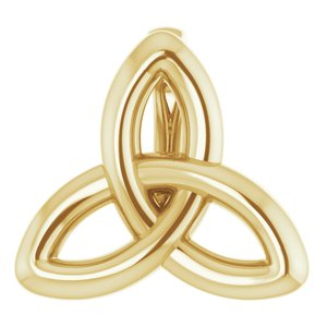 14K Yellow 10x9.3 mm Celtic-Inspired Trinity Pendant