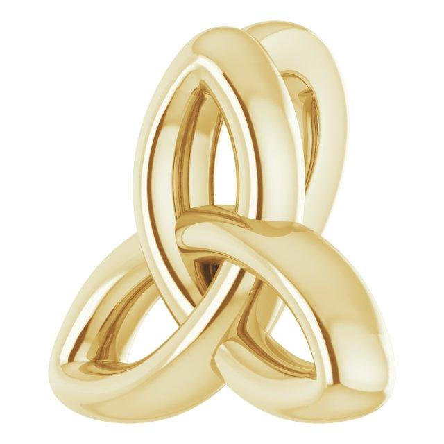 14K Yellow 10x9.3 mm Celtic-Inspired Trinity Pendant