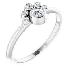 Bezel Set Stackable Ring