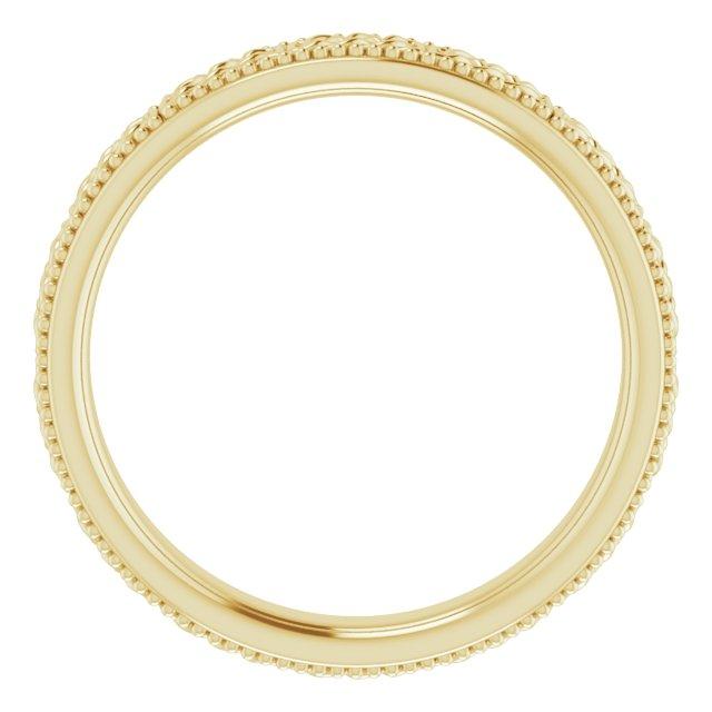 14K Yellow 3 mm Celtic-Inspired Milgrain Band Size 4