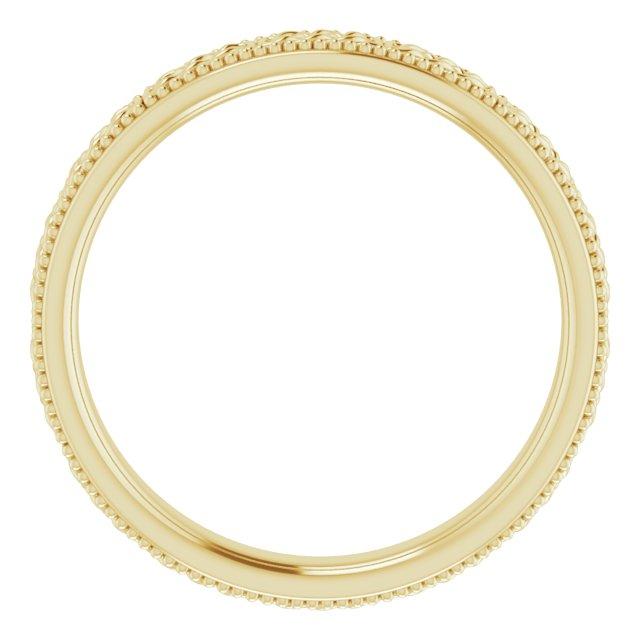 14K Yellow 3 mm Celtic-Inspired Milgrain Band Size 5