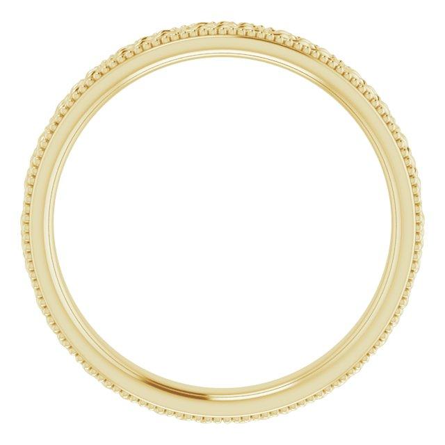 14K Yellow 3 mm Celtic-Inspired Milgrain Band Size 6